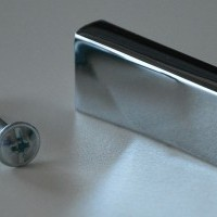Modern Chrome Finish Metal Rectangular Handle