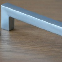 "Stylish Metal Square Bar ""D"" Handle in Matt Nickel Finish"